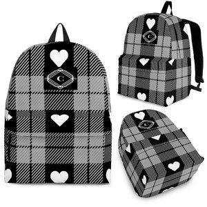 "Youth 16"" Plaid Hearts CS Backpack"