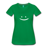 Smiley Face Tee - kelly green