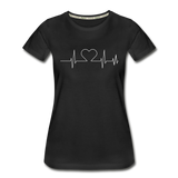 Women's ECG Heart Tee - black