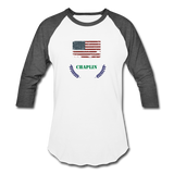 Olive Branch Baseball T - white/charcoal