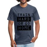 Train HARD - heather navy