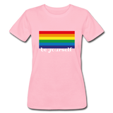"Women's ""be yourself"" T-Shirt - pink"
