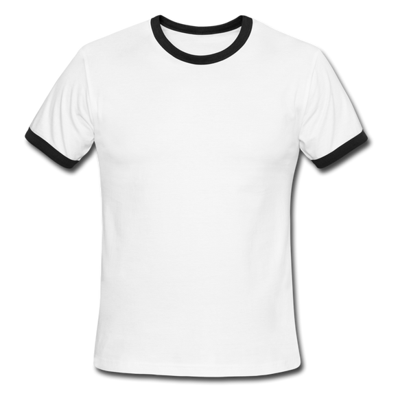 Men's Ringer T-Shirt - white/black