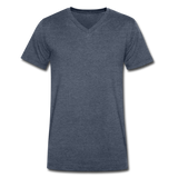 Men's V-Neck T-Shirt - heather navy