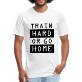 Train HARD - white