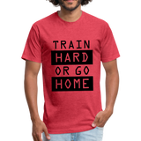 Train HARD - heather red
