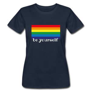 "Women's ""be yourself"" T-Shirt - navy"