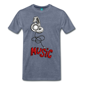 Music T - heather blue
