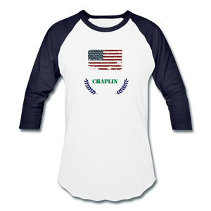 Olive Branch Baseball T - white/navy