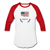 Olive Branch Baseball T - white/red