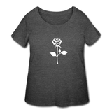 Women's oversized rose tee - deep heather