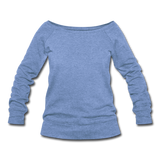 Women's Wideneck Sweatshirt - heather Blue