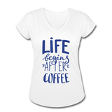 Life Begins After Coffee - white
