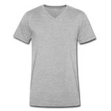 Men's V-Neck T-Shirt - heather gray