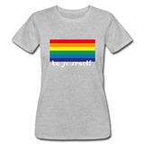 "Women's ""be yourself"" T-Shirt - heather gray"