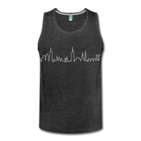 Men's NYC Skyline Tank - charcoal gray