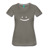 Smiley Face Tee - asphalt gray