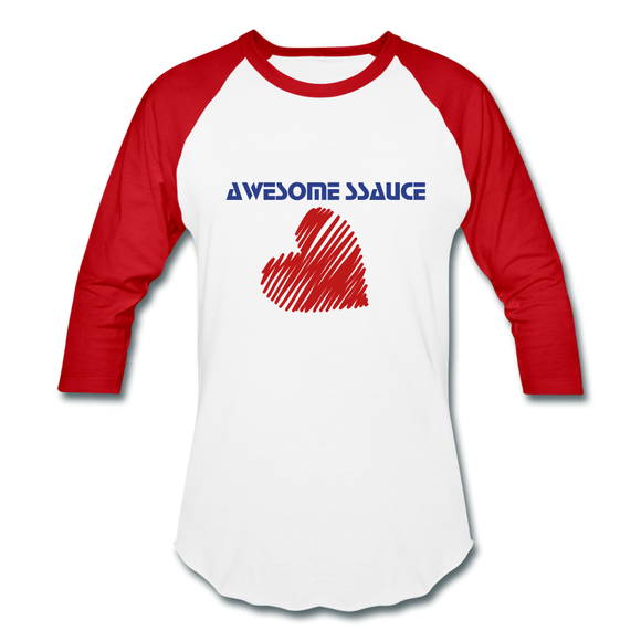 SSauce Bball T - white/red