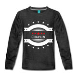 Long Sleeve Chaplin Star Crest - charcoal gray