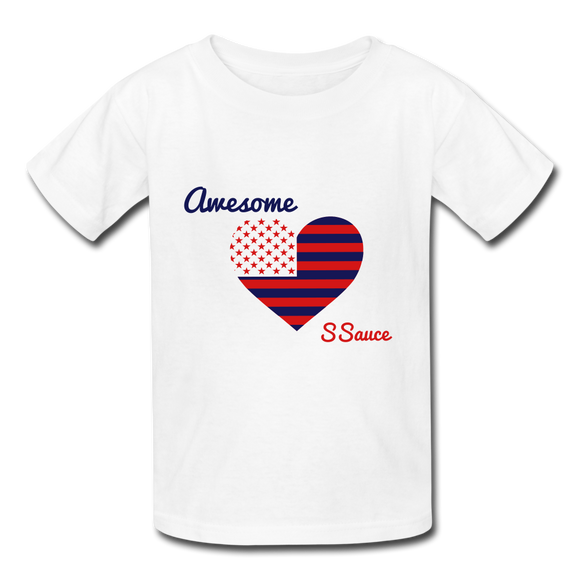 SSauce Flag T - white