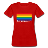"Women's ""be yourself"" T-Shirt - red"