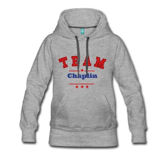 Premium  Chaplin Hoodie - heather gray