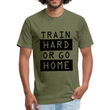 Train HARD - heather military green
