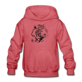 Tiger Claw Youth Hoodie - heather red