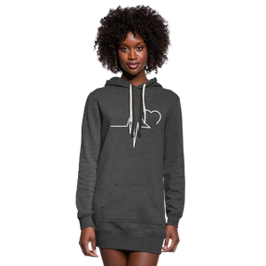 Women's EKG  Hoodie Dress - heather black