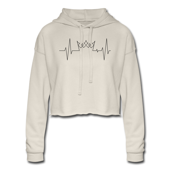 Queen Beat  Cropped Hoodie - dust