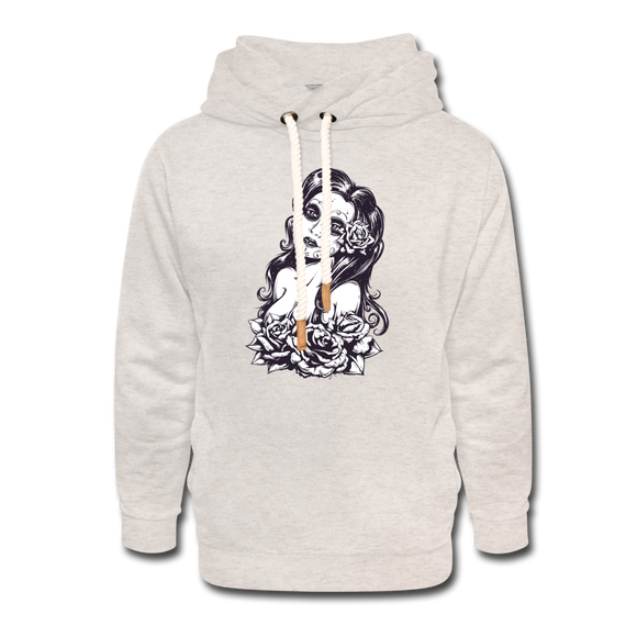 La Carnita Shawl Collar Hoodie - heather oatmeal
