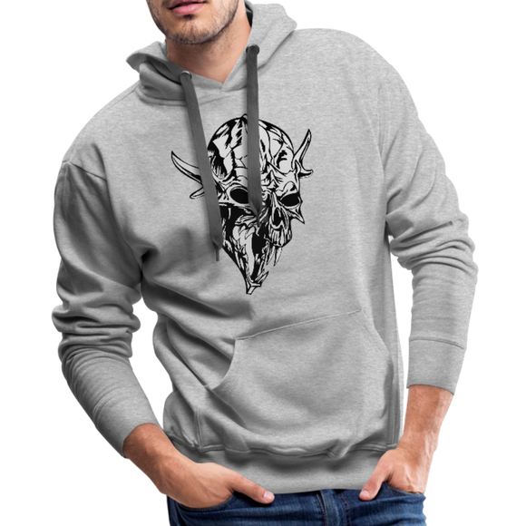 Viking Skull Hoodie - heather gray