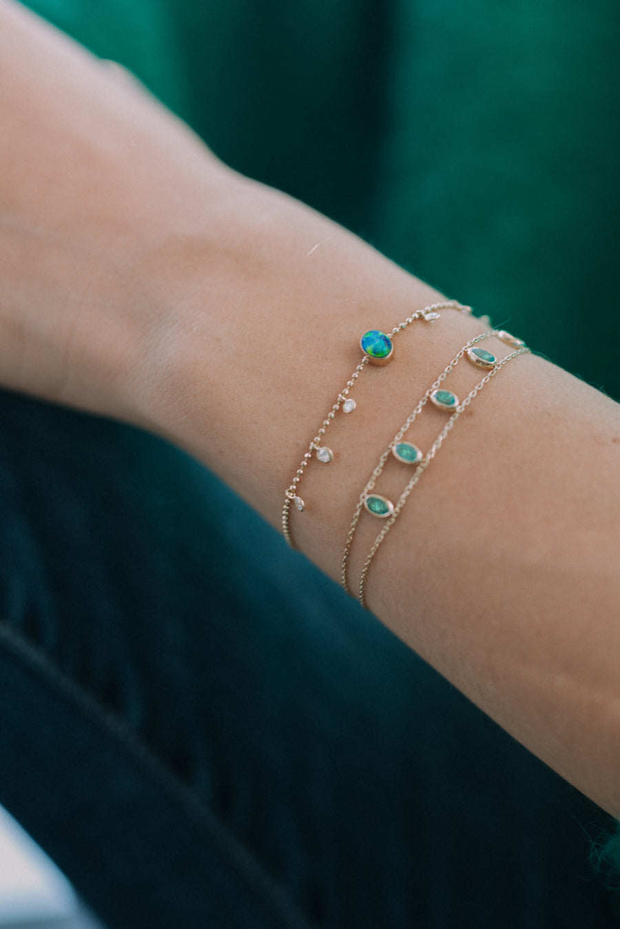 One of a kind Emerald Bracelet
