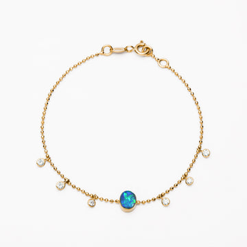 Black Opal and Diamonds Bracelet III