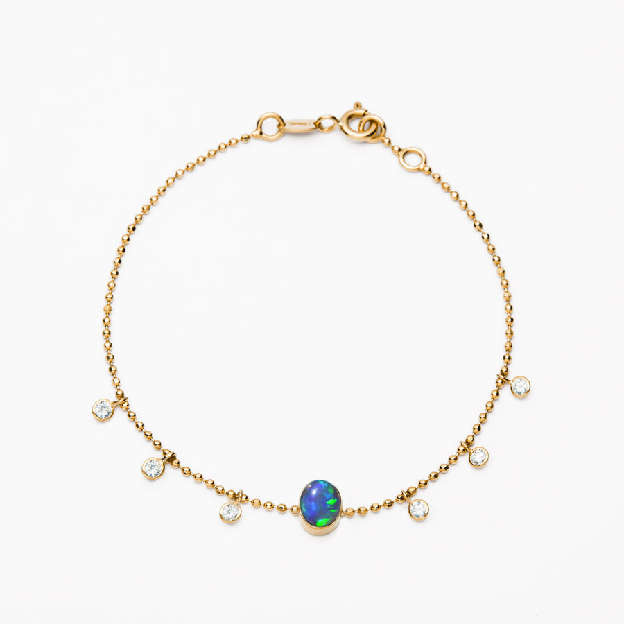 Black Opal and Diamonds Bracelet IV