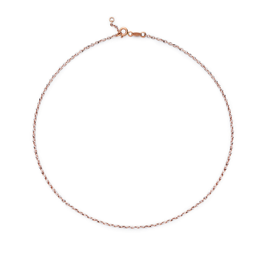 Rose and White Gold Choker Sparkly Links