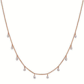 SOLAIRE Anklet with 9 Dancing Diamonds