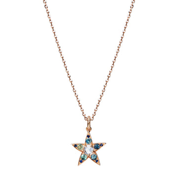 HYERES Rose Cut Diamond & Sapphires Necklace