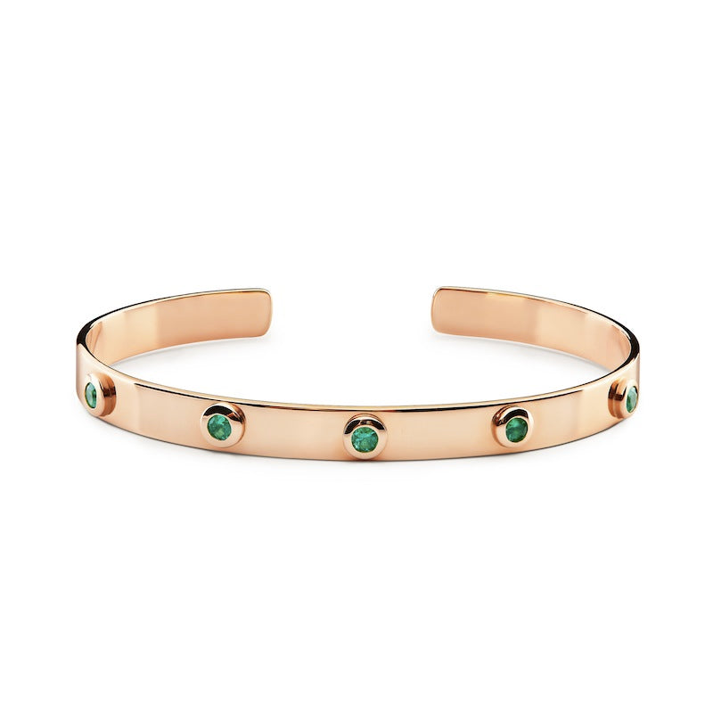 ILE DU LEVANT Bracelet Rose Gold & Emeralds