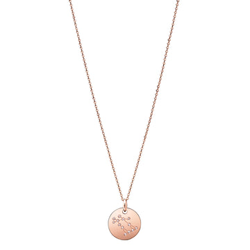 Gemini Constellation Necklace Diamond Rose Gold Zodiac Sign Star