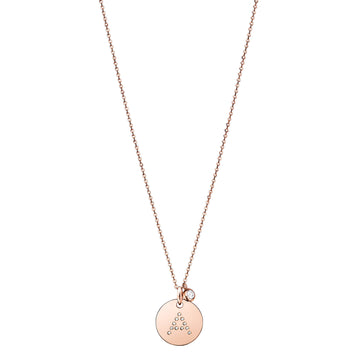 18k Gold Diamond Initial Letter Disc Necklace, Custom Made Pendant Jewelry - L'Escalet Jewellery