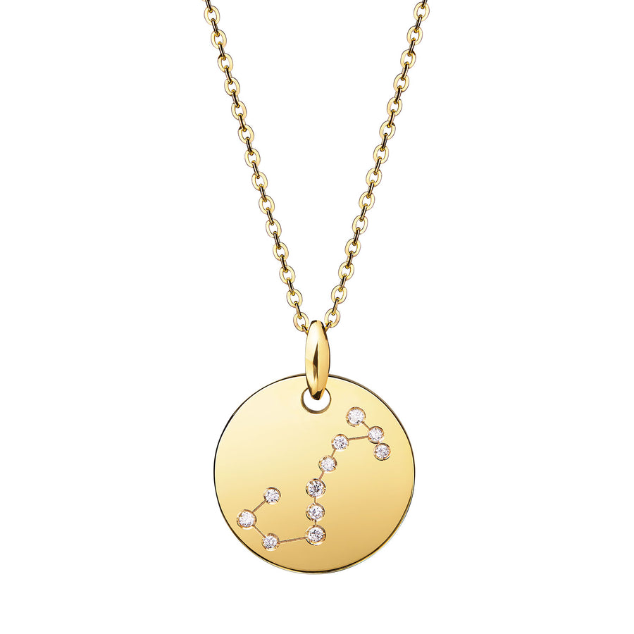 SCORPIO Zodiac Sign Diamond Constellation Necklace: Astrology Star Sign 18K Gold or Silver Pendant