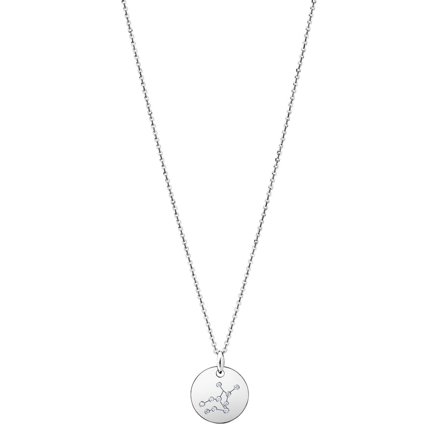 VIRGO Zodiac Sign Diamond Constellation Necklace: Astrology Star Sign 18K Gold or Silver Pendant