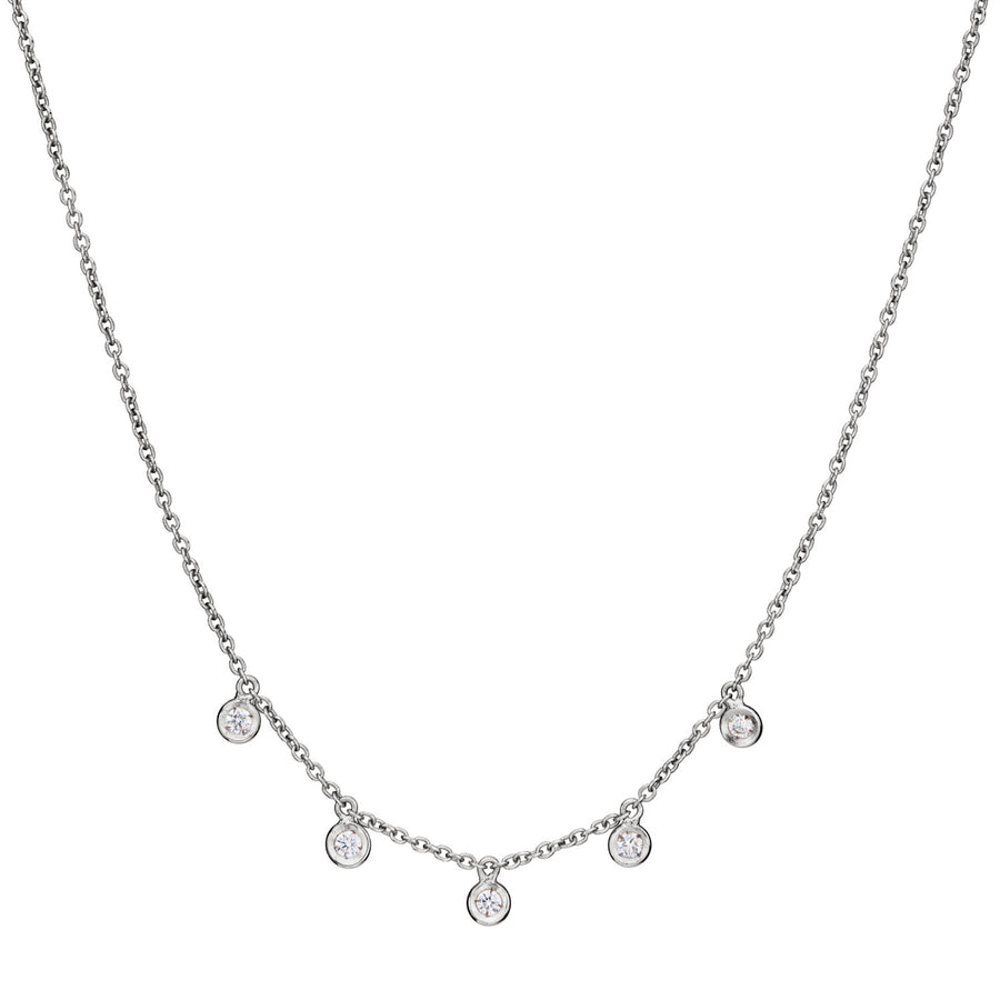 MILLE ETOILES Necklace with 5 Dancing Diamonds