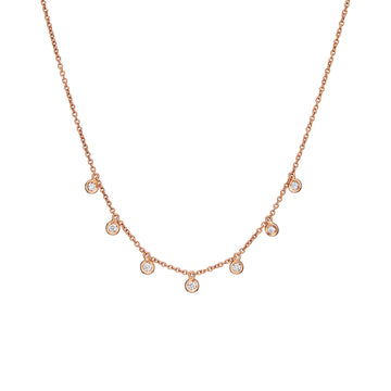 MILLE ETOILES Necklace with 7 Dancing Diamonds