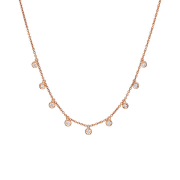 MILLE ETOILES Necklace with 9 Dancing Diamonds