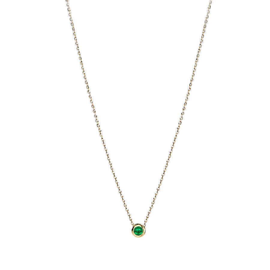 GIGARO Emerald Solitaire Necklace
