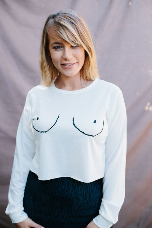 Free The Nip Jumper - White