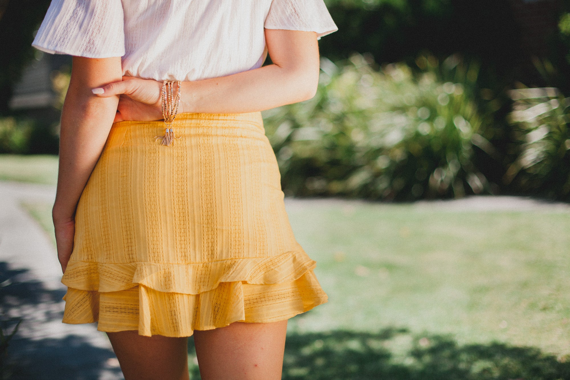 Innocence Ruffle Mini Skirt - Mustard