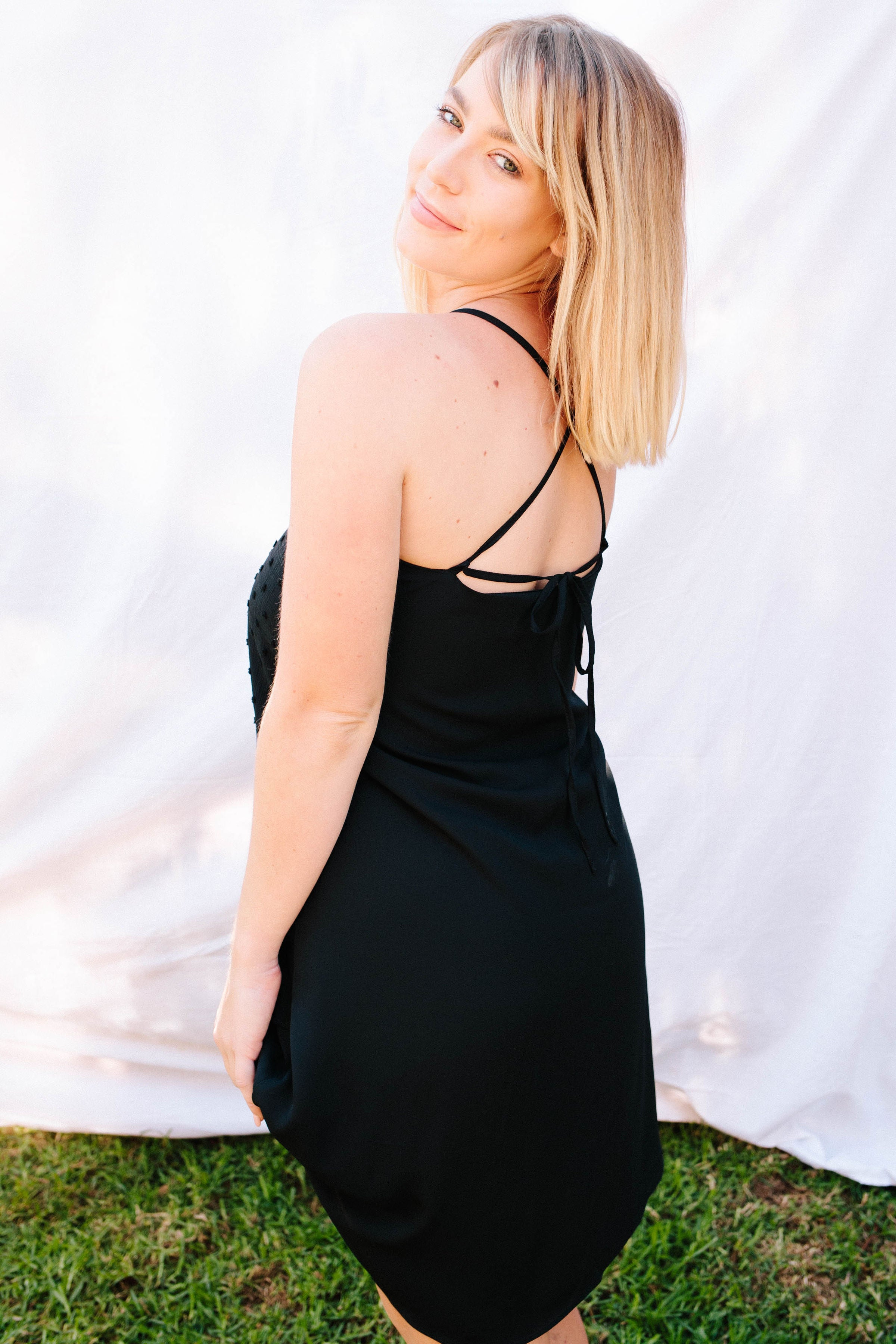 Maisey Slip Dress - Black